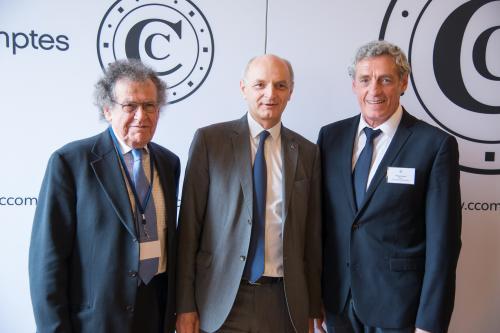 De gauche à droite : Max LEVITA, Didier MIGAUD, Philippe SAUREL - Crédit photo : CT - Calvi