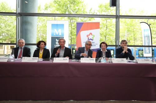 De gauche à droite : Gilles GUDIN DE VALLERIN, Dominique SALOMON, Philippe SAUREL, Bernard TRAVIER, Nicole LIZA et Régis PENALVA