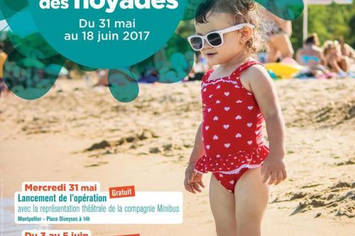"""Affiche de l'opération """"Prévention des noyades 2017"""" - Montpellier Méditerranée Métropole"""