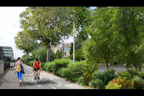 Perspective de l'aménagement futur de l'avenue de Lodève. Crédit photo : Ville de Montpellier.