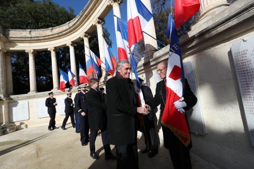Philippe Saurel, suivi de Sergey Molchanov, Consul général de Russie à Marseille.